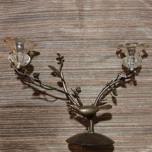 VINTAGE Candelabra ~ Birds, Branches, Leaves
